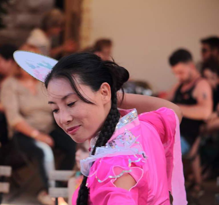 Photo d'une danseuse japonaise